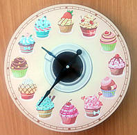 """Необычные оригинальные настенные часы """"Кексик, маффин"""""""