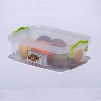Контейнер для хранения пищи Lux 1.2 л. Прямоугольный.