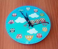 """Необычные оригинальные настенные часы """"Птички"""""""