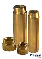 Удлинитель трубный латунный  1/2 L -10 мм