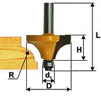 Фреза кромочная калевочная ф38.1х19, r12.7, хв.8мм (арт.9249)