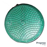 Люк с замком полимерный зеленый 600 мм х 750 мм Акведук максимальный вес 6 тонн