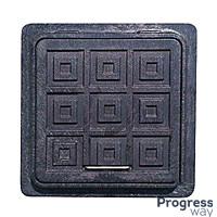Люк квадратный полимерный черный 420мм х 560мм Мпласт максимальный вес 1,5 тонн