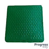 Люк квадратный полимерный Садовый зеленый 580мм х 690мм максимальный вес 1 тонна