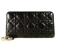 Кошелек кожаный женский черный Dior 1098