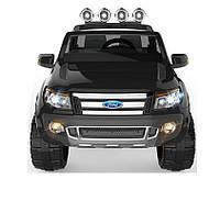 Детский двухместный электромобиль Ford Ranger KD105 черный, автопокраска, колеса EVA, амортизаторы, FM, пульт