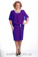 Платье батал шифон фиолет
