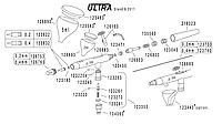 Запчасти и комплектующие на аэрограф ULTRA