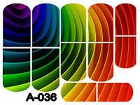 Слайдер дизайн (водная наклейка) для ногтей А-036