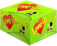 Жвачки Love is   яблоко лимон  жевательная резинка лове ис