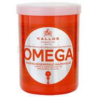 Маска восстанавливающая для тусклых и ломких  волос с комплексом Омега 6 1000 мл Kallos