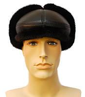 Кепка чёрная меховая мужская норковая