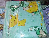 Комплект сменного постельного белья 3 в 1 бязь Бирюзовый Мишка на звезде