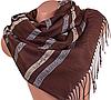 Коричневый двусторонний женский шерстяной палантин 172 на 70 см ETERNO (ЭТЕРНО) ES0406-8-10