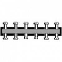 Настенная распределительная гребенка из черной стали до 85 кВт до 5 отоп. конт. (длина=750 мм)