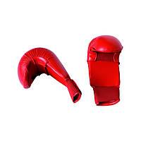 Перчатки для карате Adidas Red (661.22) без защиты большого пальца