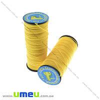 Нить капроновая (обувная) 375 т, Желтая, 30 м (MUL-013963)