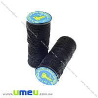 Нить капроновая (обувная) 375 т, Черная, 30 м (MUL-013958)