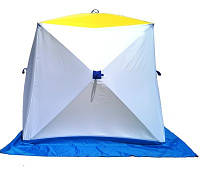 Палатка зимняя для зимней рыбалки на алюминиевом каркасе КУБ