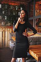 Платье женское Однотонное по колено