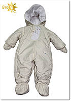 """Детский комбинезон-трансформер для новорожденных зимний с отстегивающим мехом """"Friends"""""""