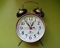 Механические часы PERFECT с будильником бронзовые (классика жанра)