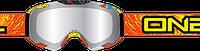 Очки для мотокроса Oneal B2 RL Spray оранжевые