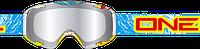 Мотоочки для бездорожья Oneal B2 RL Spray синие