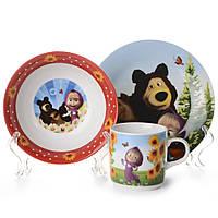 """Набор детской посуды 3 предмета """"Маша и медведь"""" H13-003"""