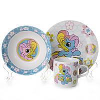 """Набор детской посуды, 3 предмета """"Маленький пони"""" NPA2SETKIDS"""