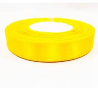 Лента (атлас) 2,5 см цвет желтый
