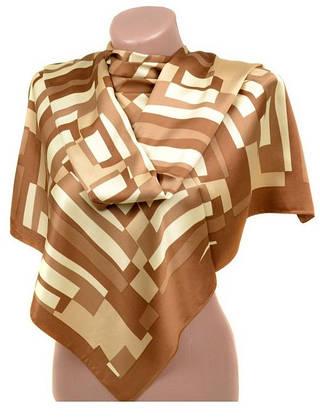 Неповторимый женский шарф 60 на 172 см набивной шелк 10840-C2