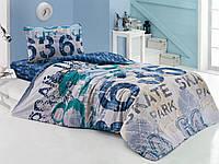 Подростковое постельное бельё Cotton Box URBAN LACIVERT