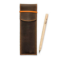 Чехол для ручек BlankNote 1.0 Орех - апельсин (+эко-ручка и карандаш)