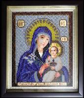 Икона Божьей Матери Неувядаемый Цвет (вышитая бисером)