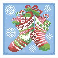 """Схема для вышивки бисером """"Новогодние сапожки"""""""