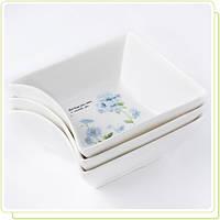 Набор керамических пиал 3 шт Гортензия Maestro MR-10035-49