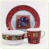 Набор детской посуды Веселые зверята Maestro MR-10040-90