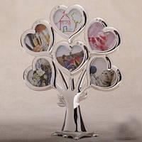 """Фоторамка """"Семейное дерево"""" сердечки"""