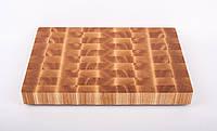 Кухонная торцевая разделочная доска 45х30х4 см из ясеня 0005