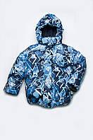 Детская теплая зимняя курточка для мальчика Синяя/2