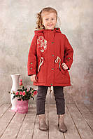 Качественная демисезонная куртка-парка для девочки