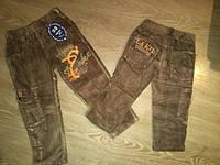 Утепленные джинсы вельвет на мальчика, на флисе, на резинке