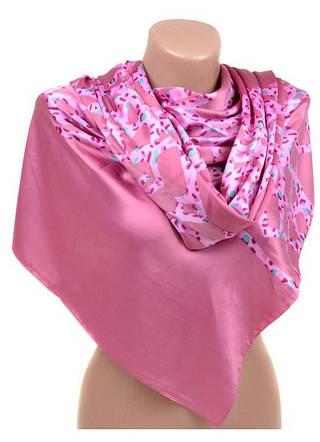 Незабываемый женский шарф 60 на 172 см набивной шелк 10840-O3
