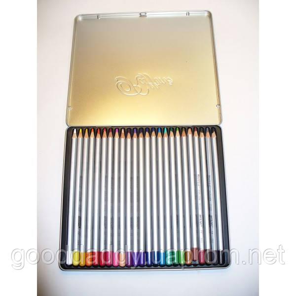 """Акварельные карандаши 24 цв. MARCO """"Raffine"""" 7120-24TN в мет. коробке"""