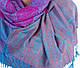 Превосходный женский двусторонний палантин из пашмины 175 на 70 см ETERNO (ЭТЕРНО) ES0206-2-rose-blue, фото 2