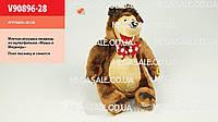 """Музыкальная игрушка Мишка """"Маша и медведь"""", 28см:  песенка, смех"""