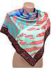 Шелковый яркий женский  платок размером 90*90 20492-C1 (цветной)