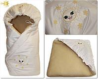 Конверт зимний для новорожденных  на овчине Умка