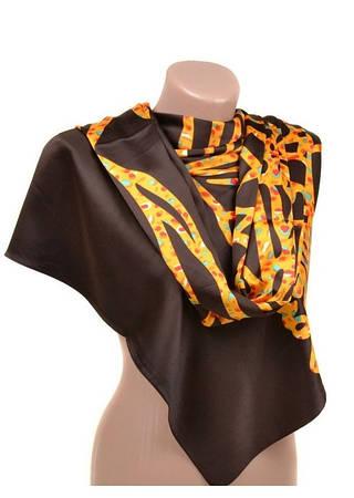 Комфортный женский шарф 60 на 172 см набивной шелк 10840-R4
